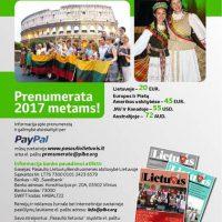 "Prenumerata  žurnalo ""Pasaulio lietuvis"""