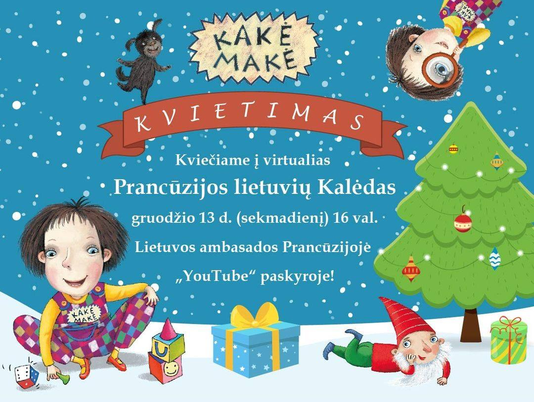 Kviečiame visoje Prancūzijoje (ir ne tik) gyvenančius vaikučius ir jų tėvelius įvirtualią Kalėdų šventę!