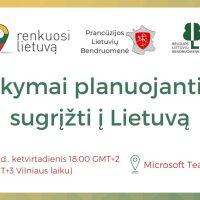 """Vebinaras """"Atsakymai planuojantiems sugrįžti į Lietuvą"""""""