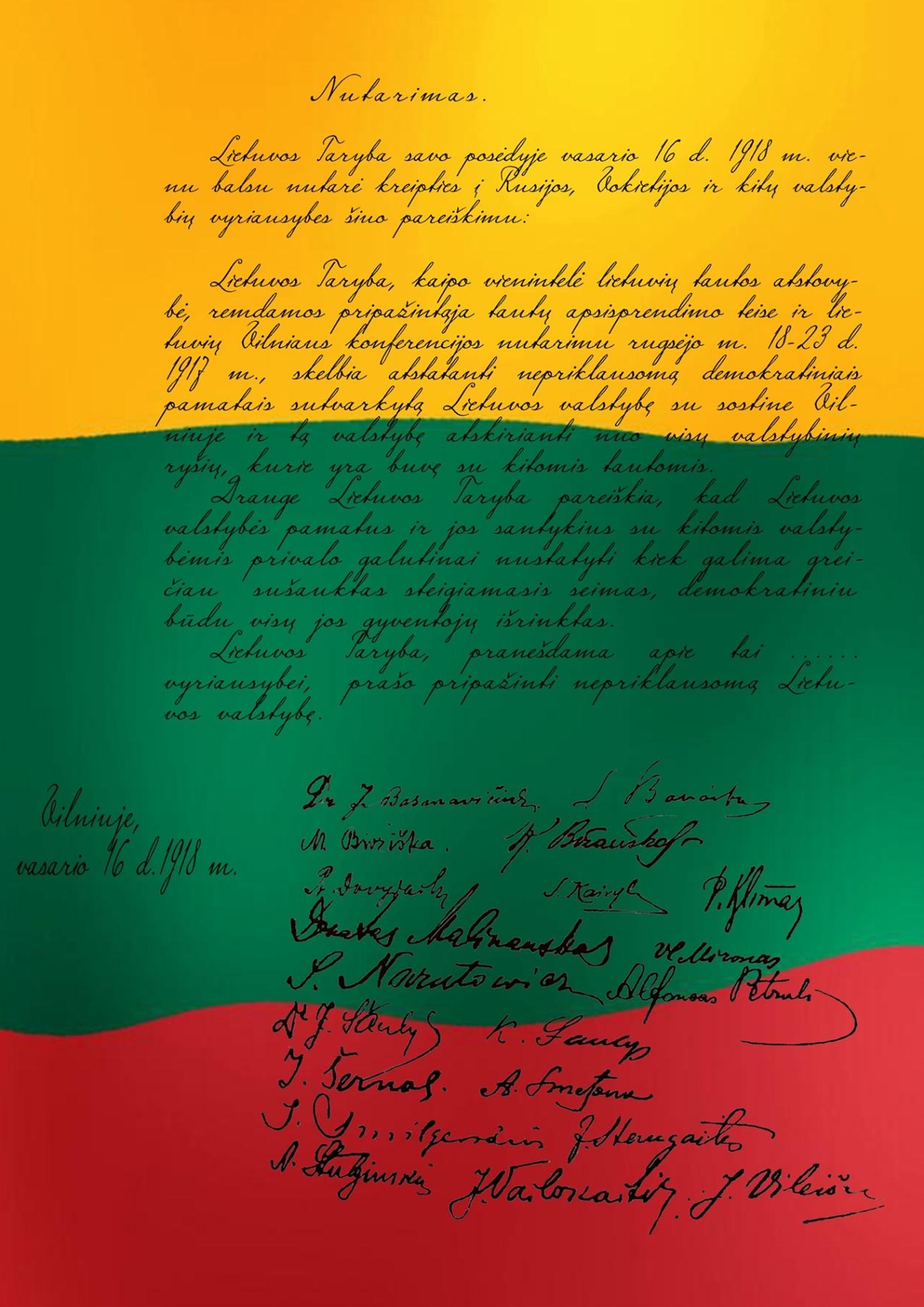 Briuselio Debatų Klubas kviečia: Vasario 16-oji: negirdėti faktai apie signatarus ir Dokumentą