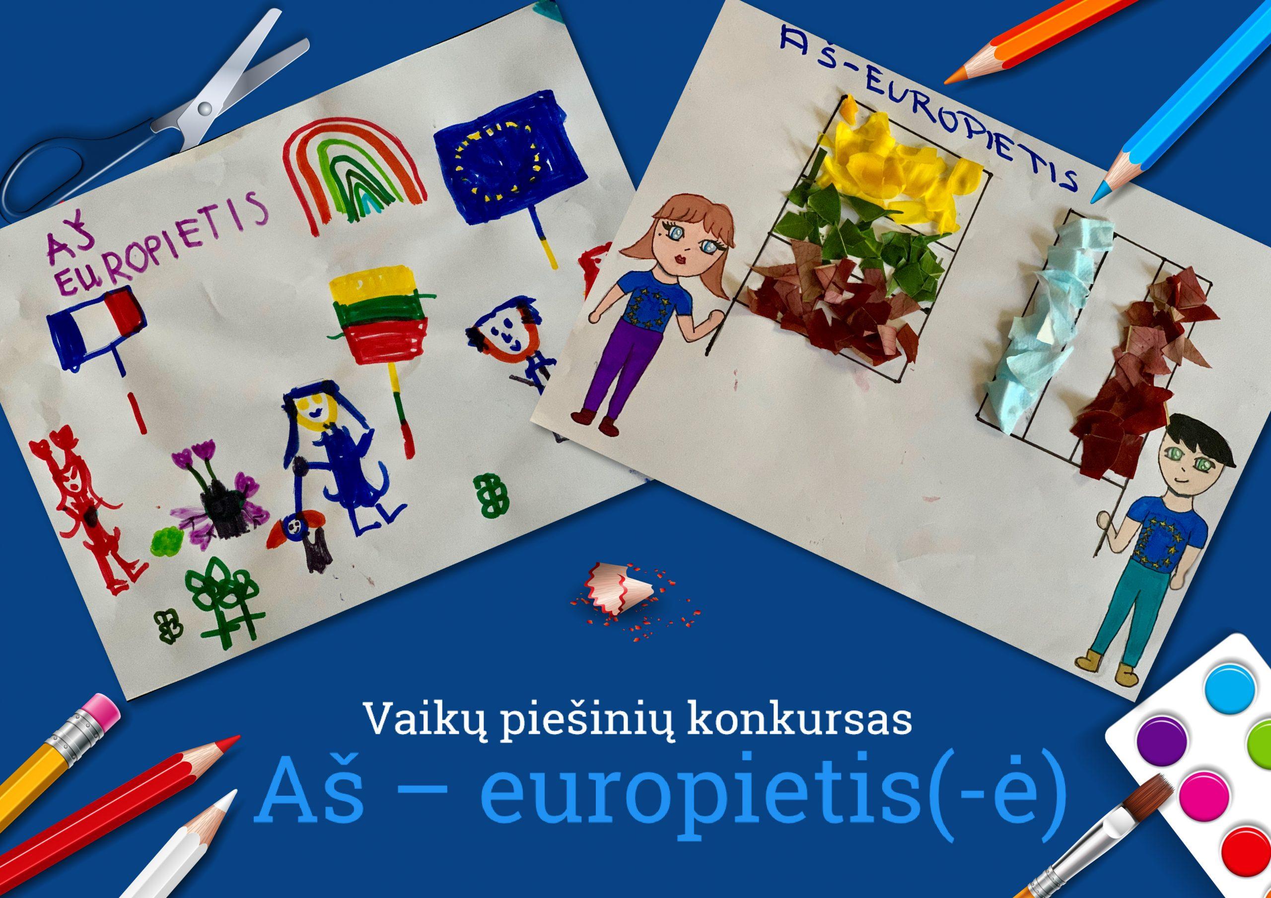 Vaikų piešinių konkursas Europos dienai paminėti